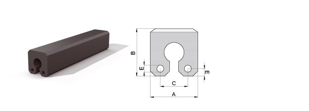 Composite keyhole fender