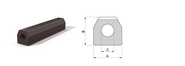 Composite trapezium fender