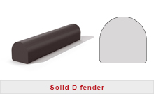 D fenders Solid rubber