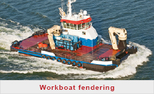Workboat fendering