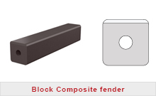 Block composite fender