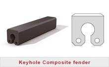 Keyhole composite fender