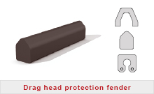 Drag head protection fender