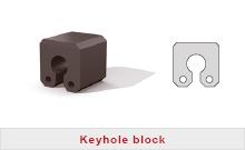 Keyhole fender block