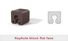 Schlüssellochfender Block