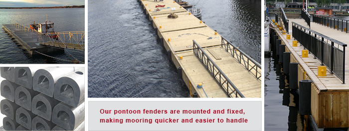 Pontoon fendering and Pier rubber fenders