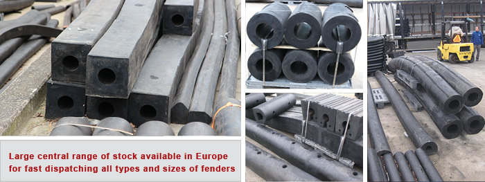 Central stock rubber fenders