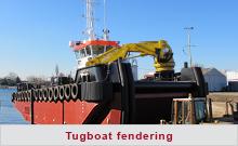 Tugboat fendering