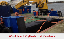 Work boat Cylindrical fenders