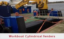 Work boat Cylindrical fenders