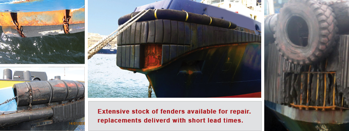 Fender repair - Rubber fenders on stock for repair market
