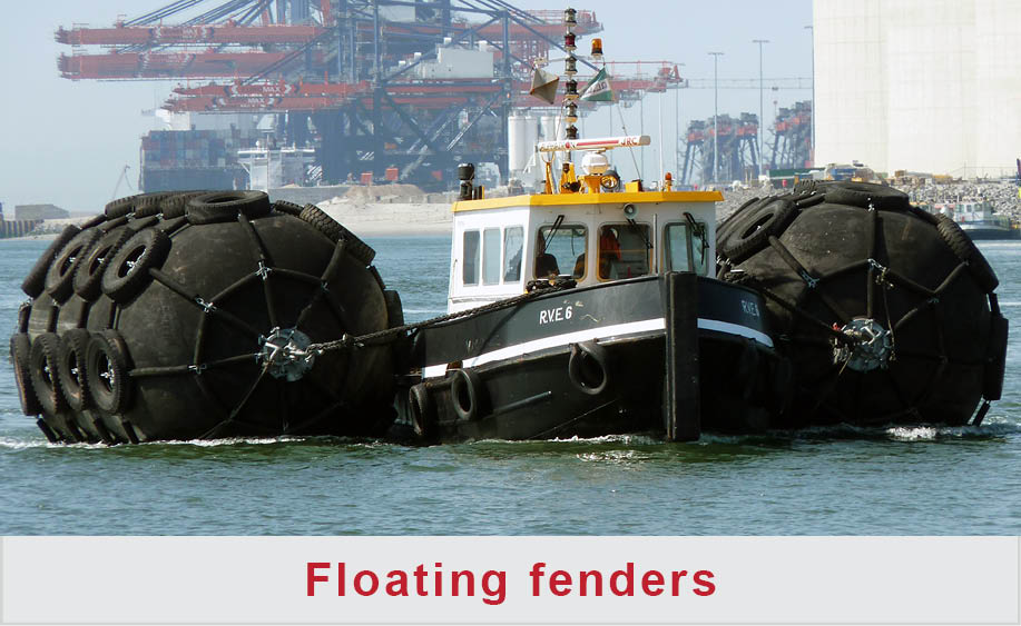 Pontoon fendering & Pier rubber fenders