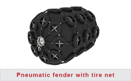 Pneumatic fender with tire net