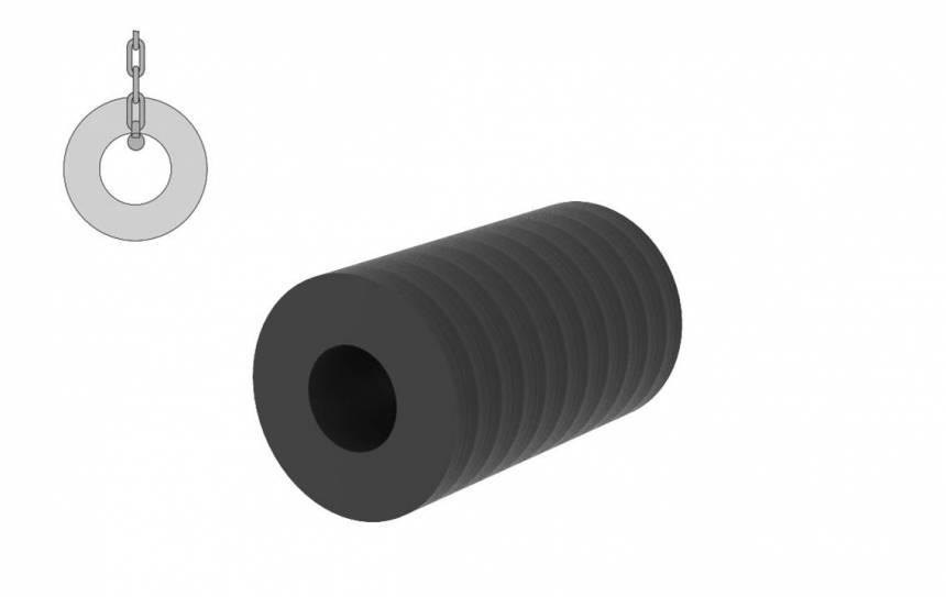 Rubber Cylindrische fenders voor havens