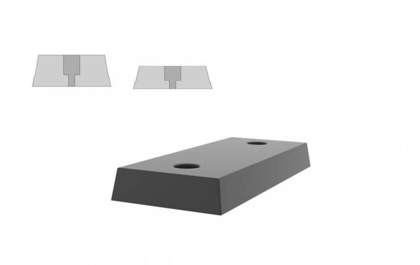 Rubber stootblokken voor laaddocks